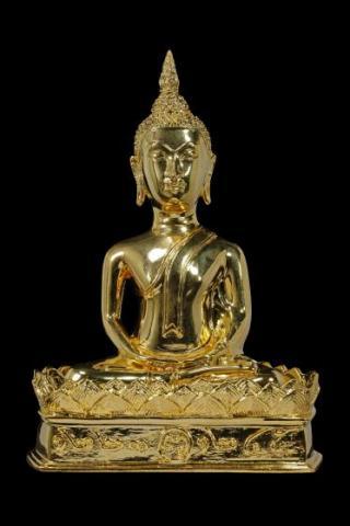 พระพุทธมัชฌิมามุนี 5 นิ้ว รุ่น1ชุบทอง ด้านหน้า